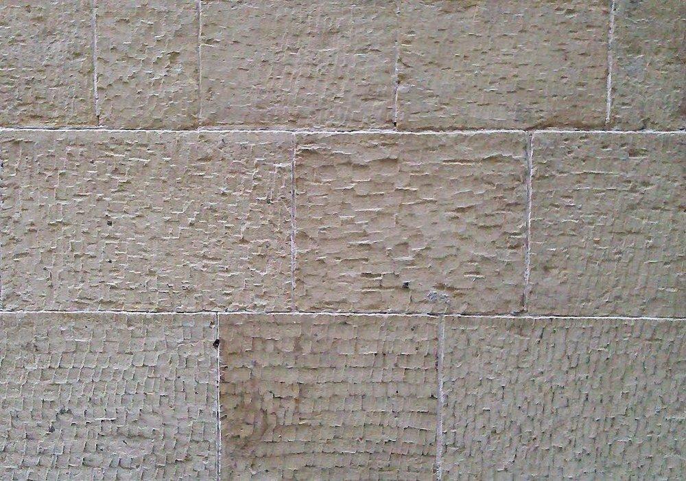 Stone masons' chisel marks