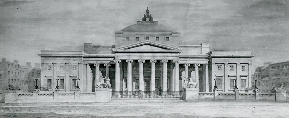 The Royal Manchester Institution Presentation Drawing by Charles Barry (1824) / credit: University of Manchester Tabley Collection