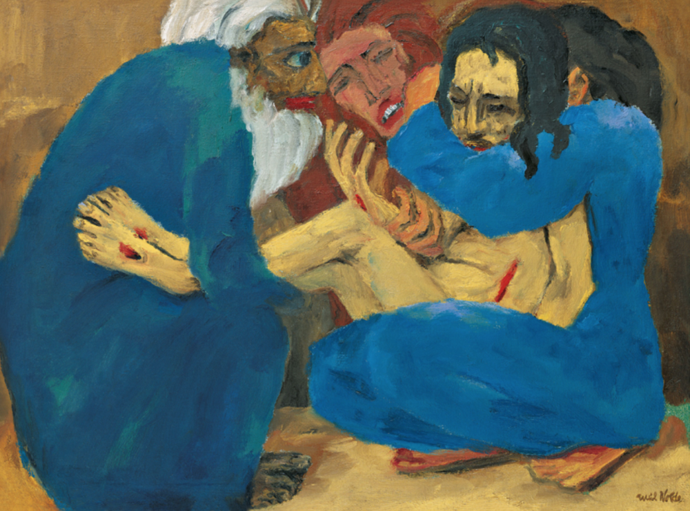 Emil Nolde,The Burial (Die Grablegung), 1915, oil on canvas, National Museum of Art, Architecture and Design, Norway