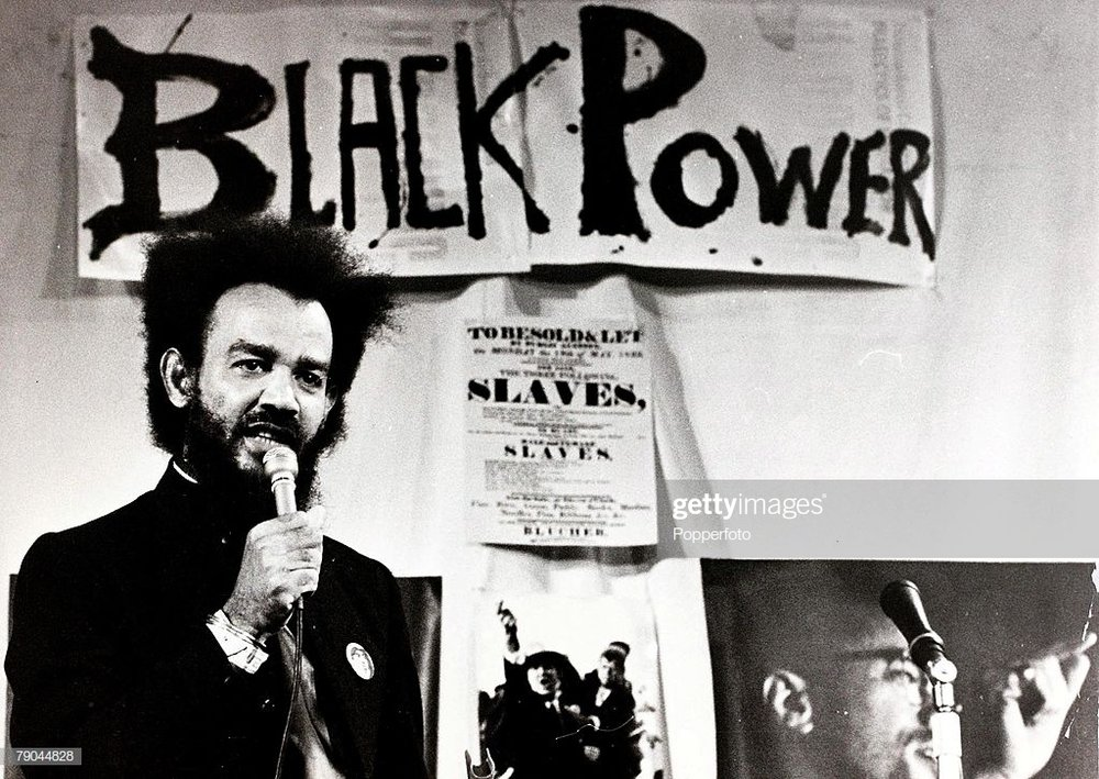 Black Power leader Michael X speaking at a rally in London in 1972. © Popperfoto/Getty Images