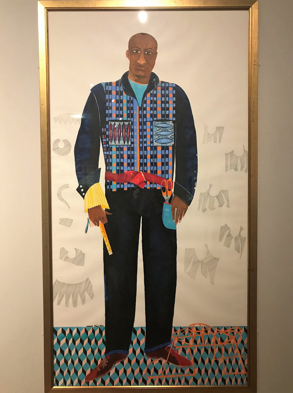 The Tailor  (2010) Lubaina Himid, in Gallery 12
