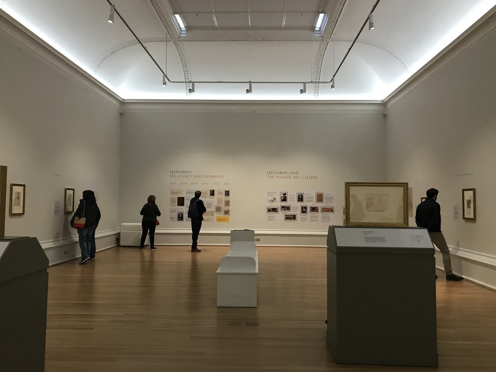 Located in a large, light and airy room on the first floor; it felt as though there were more to see than just twelve drawings.