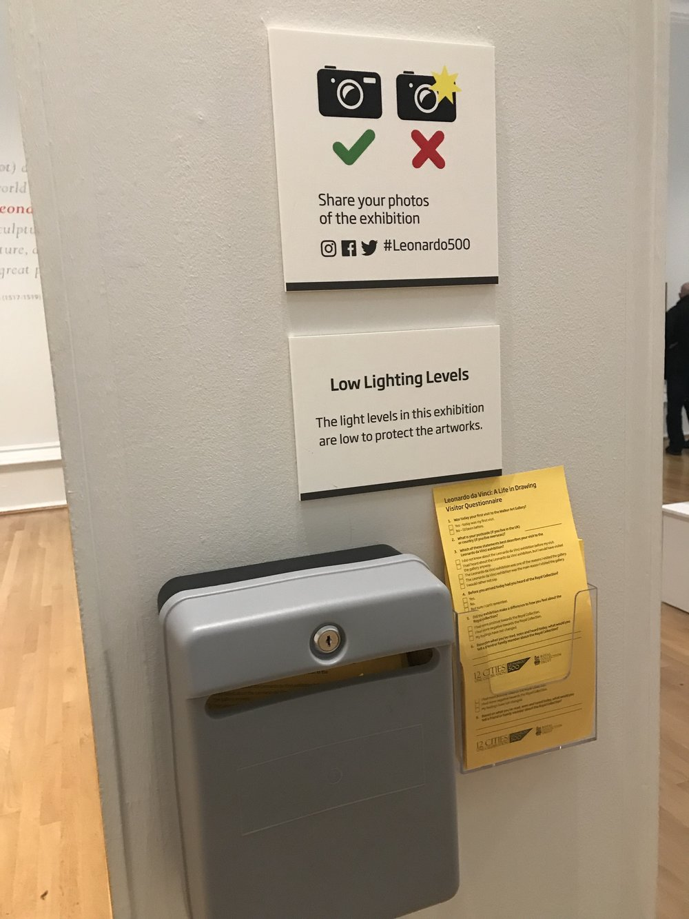 Aspects of the curation were clearly acknowledged and explained through small discreet signage; making the curatorial decisions more transparent.