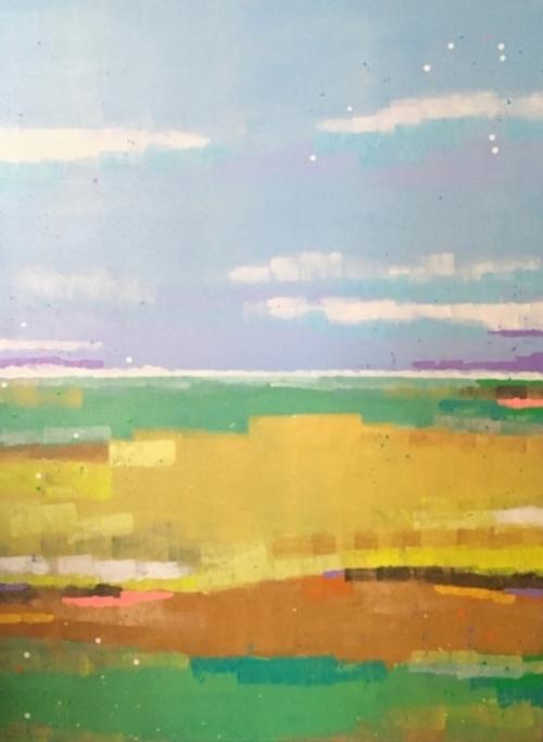 "Lush  36x48""  acrylic on canvas  $1500"