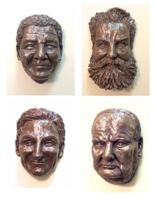 Bronze Cast Faces  $500 each