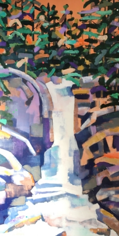 """Above the Falls  36x72""""  $1900"""