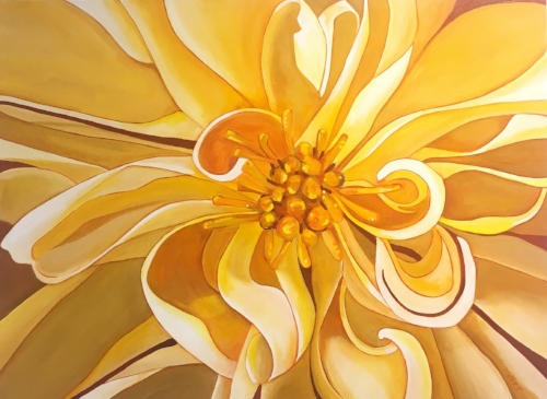 """Melody""  48x36""  acrylic on canvas  $1000"