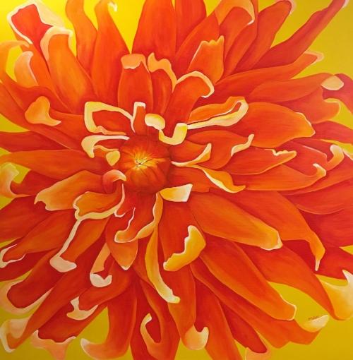 """Rising""  48x48""  acrylic on canvas  $1200"
