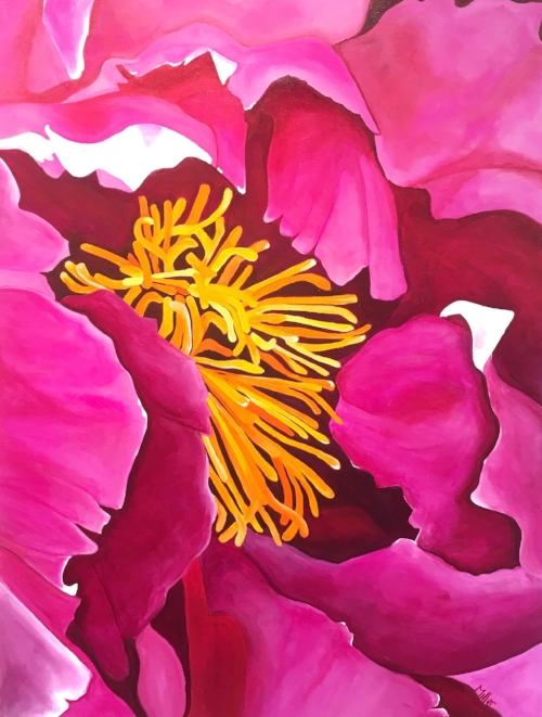"""""""Precious and Pink""""  36x48""""  acrylic on canvas  $1000"""