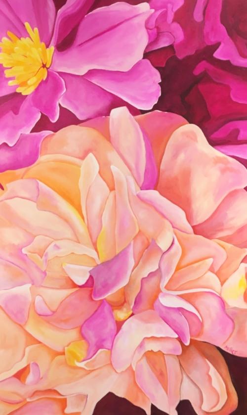 """Delicate Ruffles""  30x48""  Acrylic on Canvas  $950"