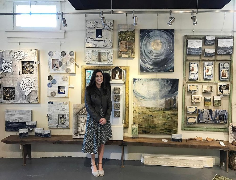 Dorothy as Featured Artist at Bingham and Broad during the Broad Avenue Spring Art Walk 2017