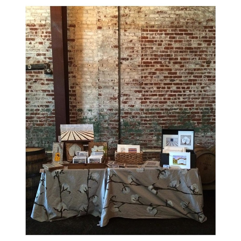 Dorothy Art booth at the 2015 summer Sunday Funday Art Show (curated by Dorothy)