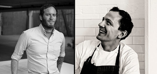 CHAD ROBERTSON with JAMES LOWE (LYLE'S, LONDON) at TARTINE MANUFACTORY