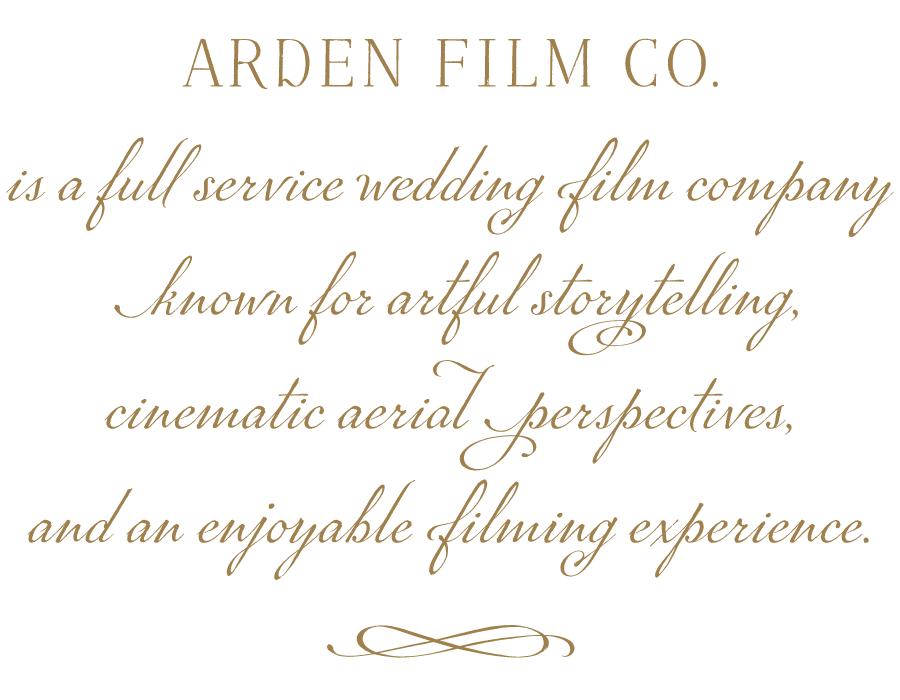 Arden Film Co. Wedding Videographers based in Charlotte, N.C. Available for Destination Wedding Videography