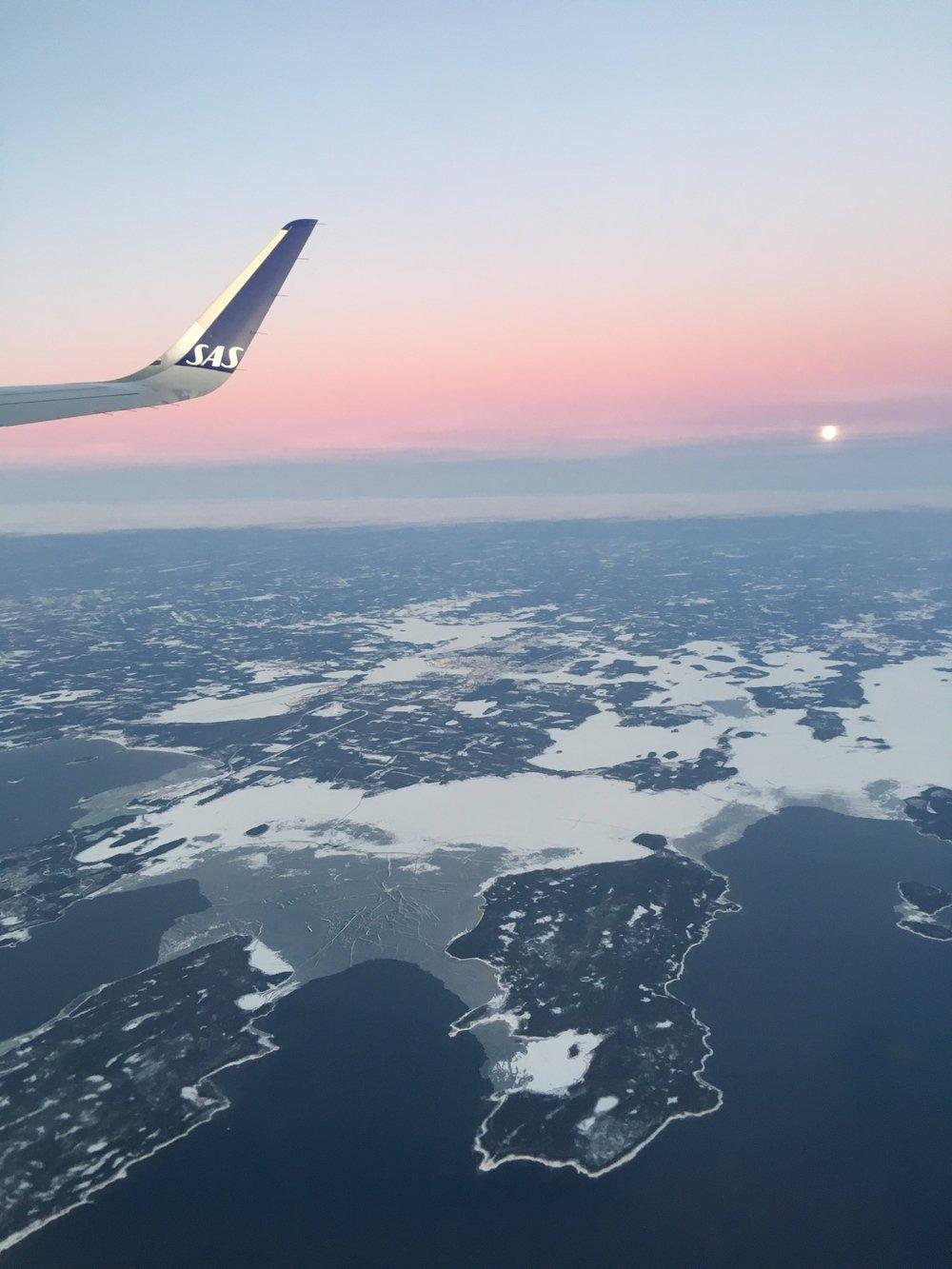 My flight back from Luleå to Malaga / Från planet tillbaka ifrån Luleå till Malaga