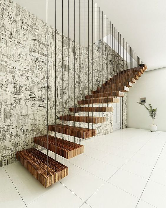 This stairs are everything! I want a house right now so I can make this stairs happen.