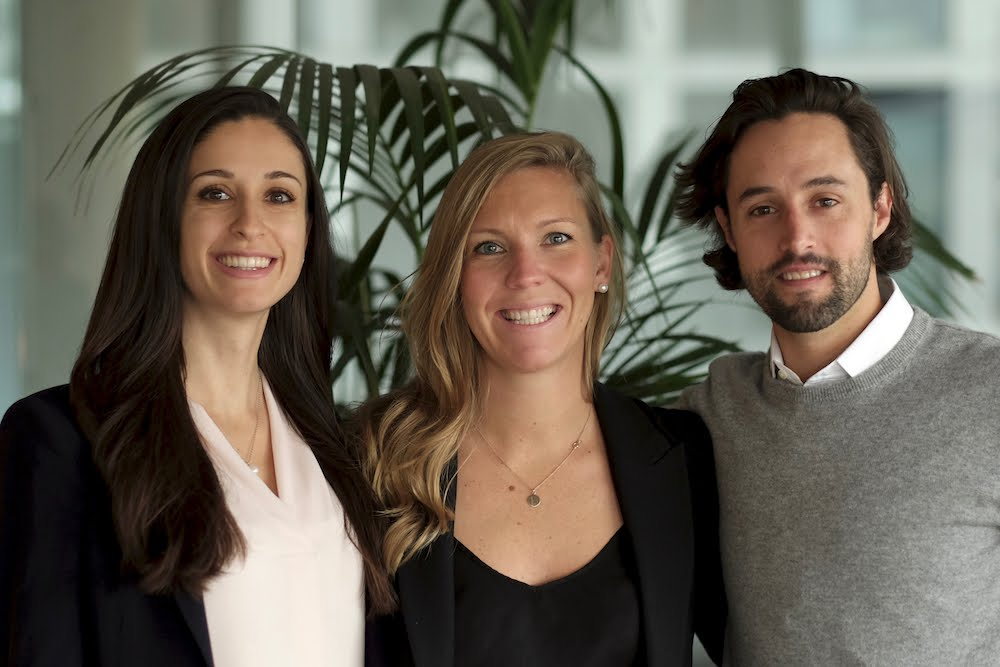 Dessy Dasklov, Lindsey Goodchild, and Jordan Ekers, Co-Founders of Nudge Rewards