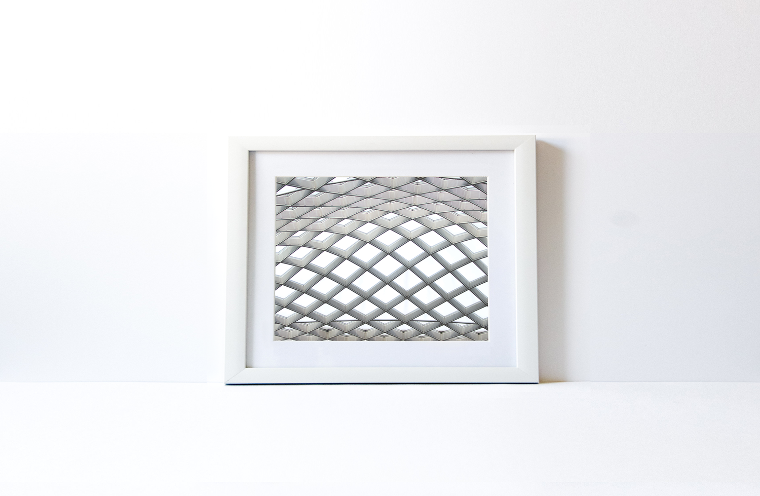 LINES ON LINES | White Wood Frame — CHARITY CANVAS