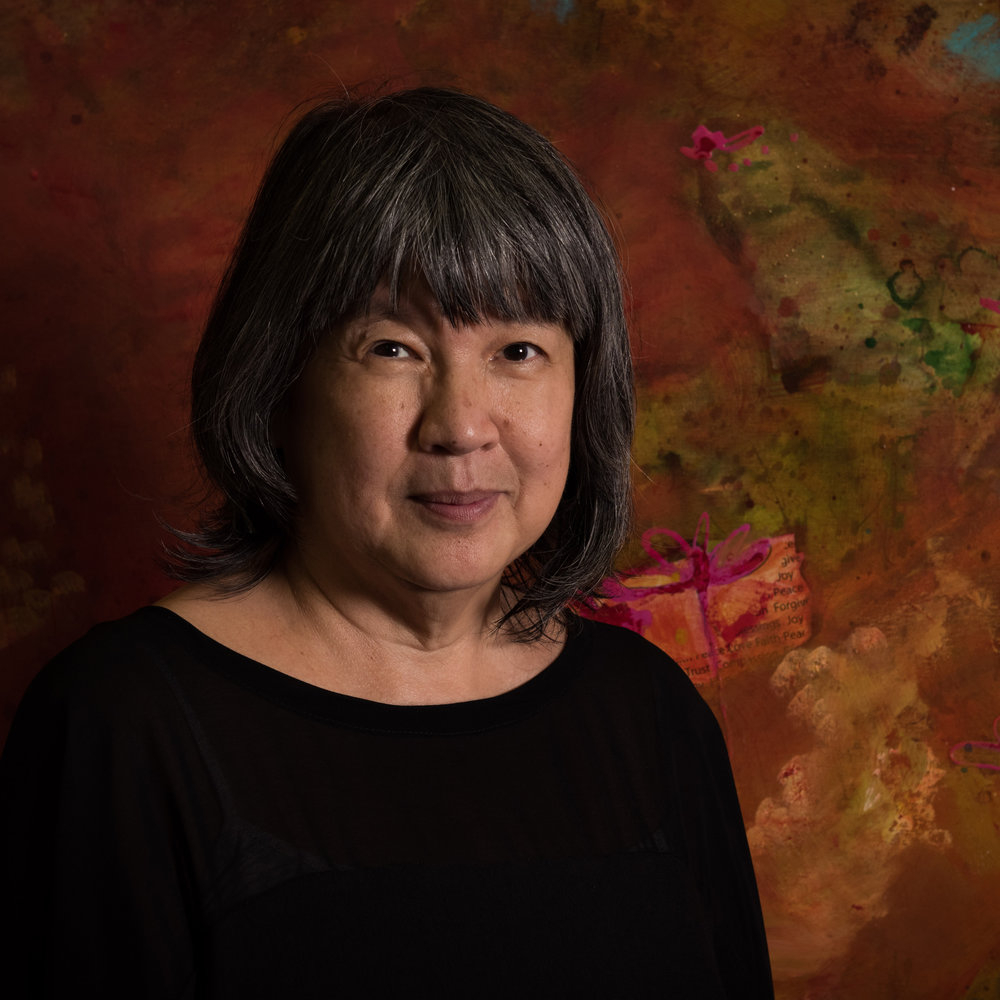 Gloria Keh   Born in 1952, Gloria Keh began painting as a child, her first teacher being her late father, the oil painter, Martin Fu. As an adult, she studied mandala art and symbolism in Melbourne, Australia, and undertook a short course in art therapy in Singapore. In 2008, Gloria founded Circles of Love, an art-based charity outreach program, using her art in the service to humanity.  She facilitates courses and workshops on mandala art as well as on art journaling. Her works have been acquired by collectors in Singapore, Malaysia, India, Sri Lanka, Australia, the United Kingdom, Switzerland, and Italy.  She has exhibited in Singapore, Malaysia, Australia and India.