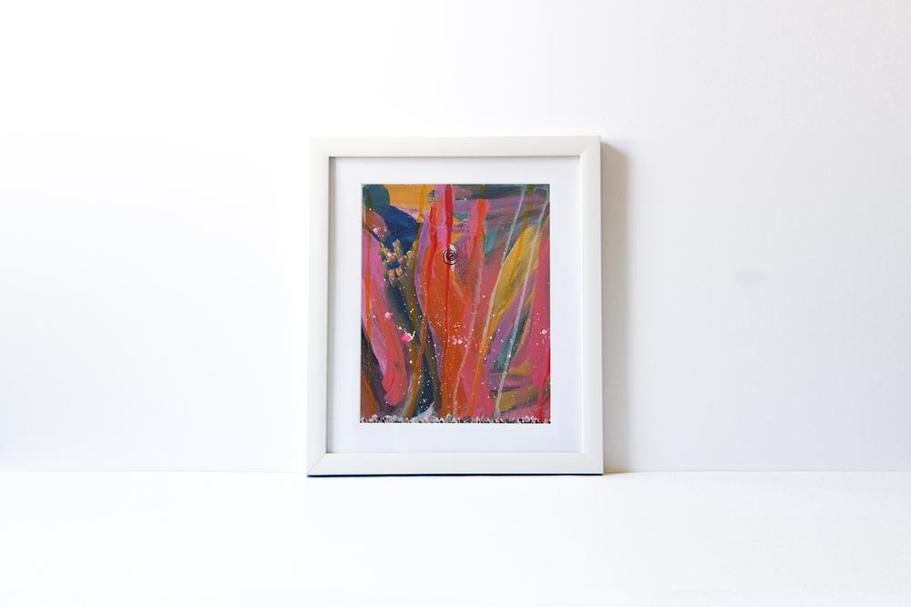 WATERLILLIES 1 | White Wood Frame