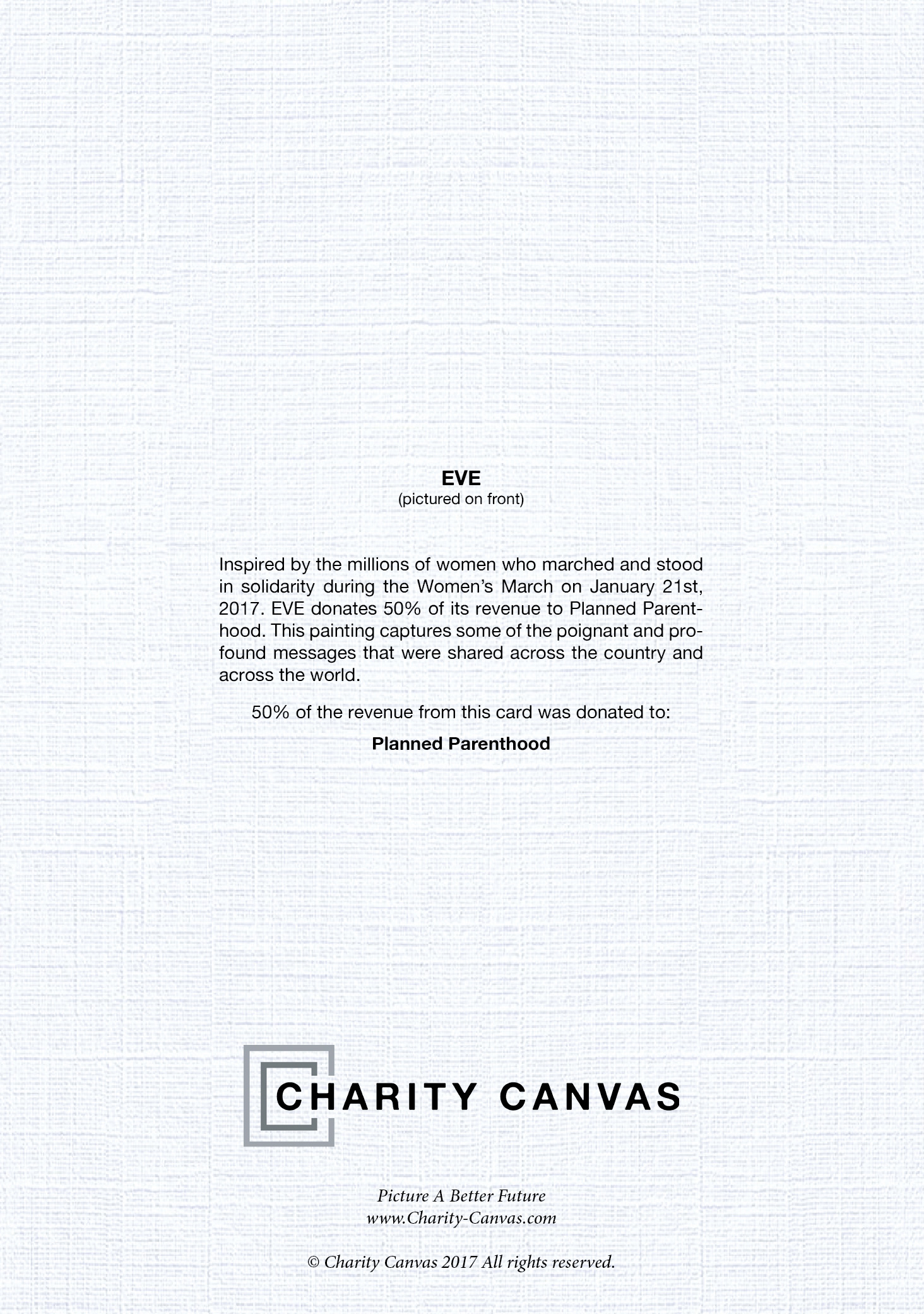 Eve blank holiday greeting cards charity canvas eve blank holiday greeting cards m4hsunfo