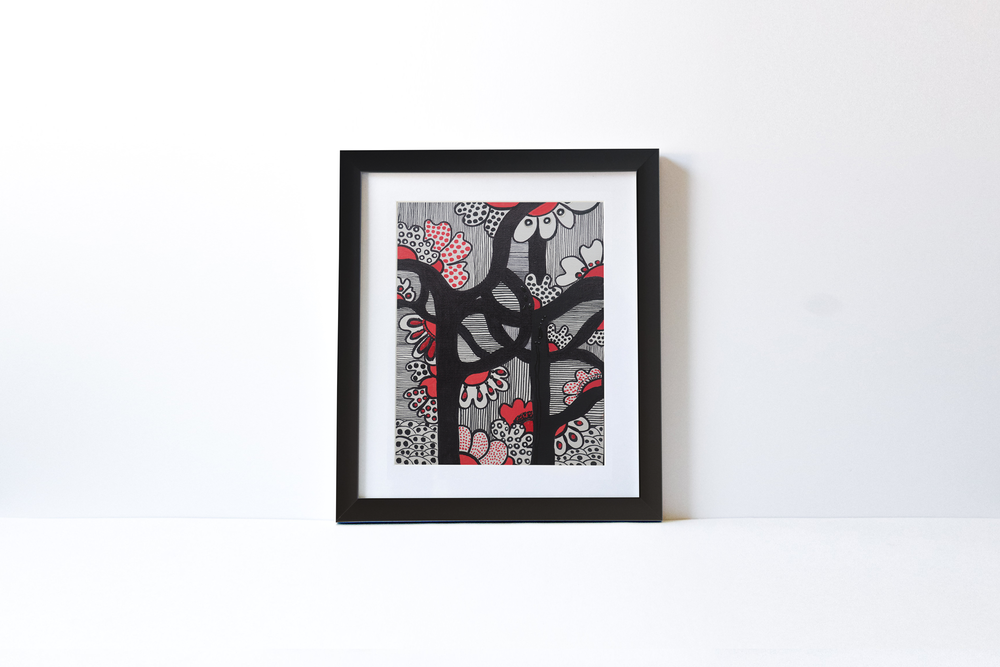 BLOSSOM TREE | Black Wood Frame