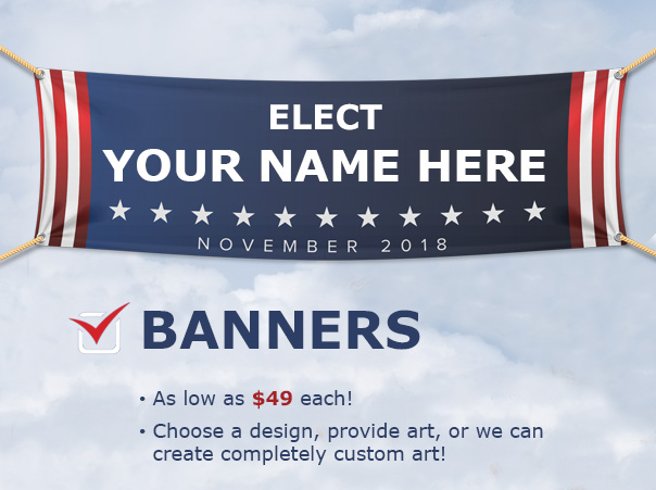Be visible! - Banners always get attention. They can be as big as to wrap around a semi-truck that's on the side of the highway or as small as one to hang above a table at a farmers market. Be seen. Be visible.CLICK HERE for information on your next banner.