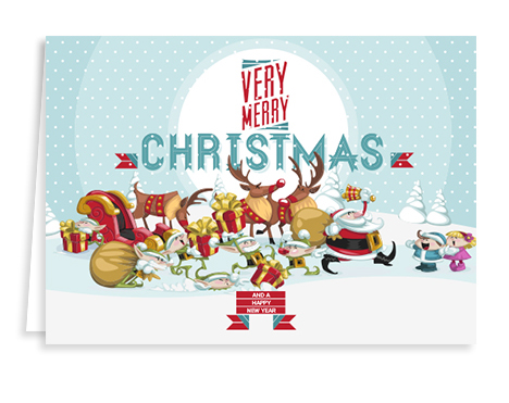 christmas-characters- holiday card from Graphicsource