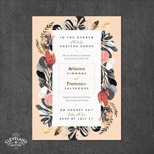 🥂 We have a new wedding invitation design in house! This beautiful floral layout comes in two varieties (swipe left to see the other floral option). . Placecards, menu's, table charts, and more can be created from this one layout. We can do that for most but some definitely make it work a bit easier. Colors can be adjusted and of course text can be changed. Let your style ring through! 😎 . To see more examples of wedding invitations and additional wedding details click the link in our bio.  We are @Graphicsourceoh and Cleveland Invites (@cleinvites) is our website solely dedicated to wedding and special event printed items. We handle the design and printing. Reach out to us with any questions you have! We look forward to chatting with you. . . . #weddinginvitations #isaidyes #sayido #weddinginvitation #springwedding #summerwedding #destinationwedding #design #style #art #diy #wedding #clevelandweddings #justengaged