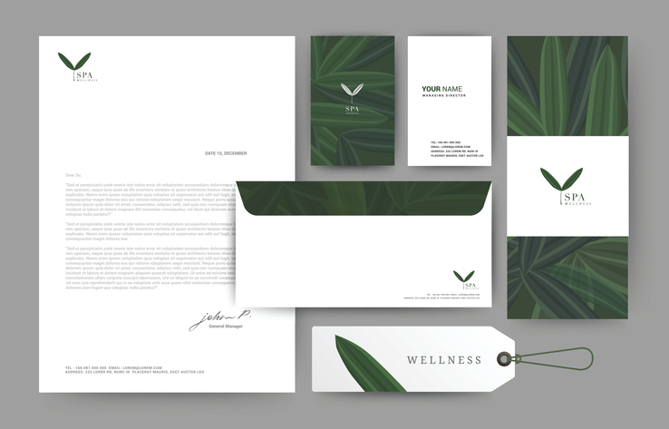 Letterhead business cards and branding - printing