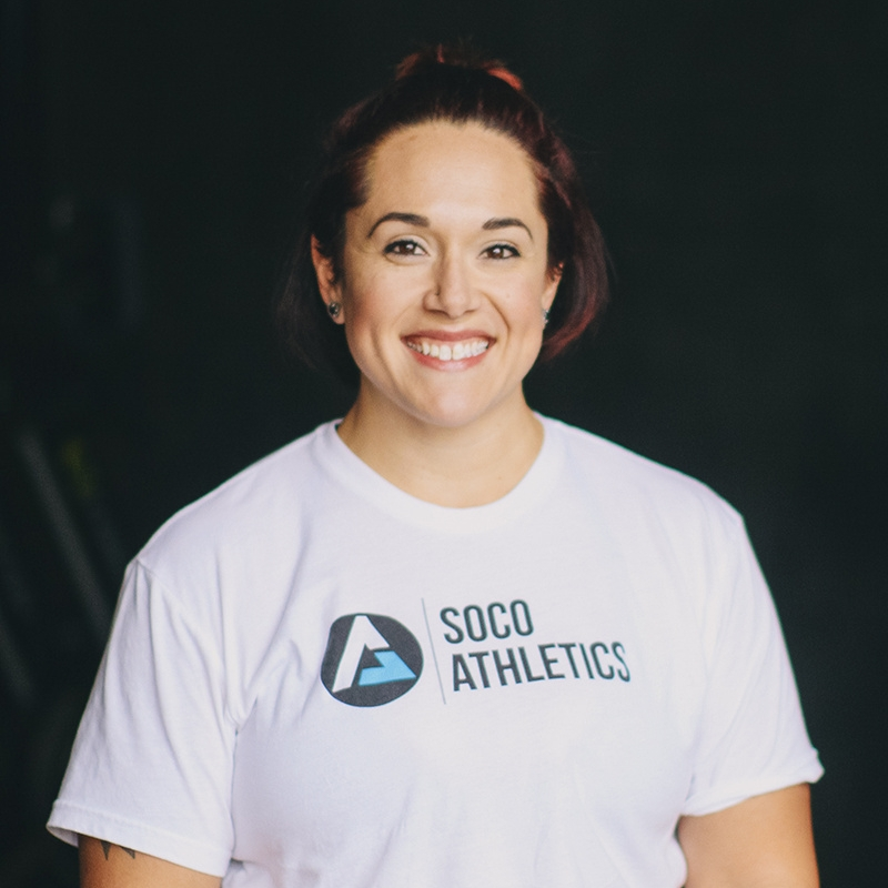 Sara Urban- Coach + Gym Manager   Sara was born in Oklahoma, but she has called Texas (and College Station) home for most of her life. Sara is a graduate of Blinn College in Bryan, and she is a CrossFit Level 1 (L-1) and Level 2 (L-2) certified coach. She also has CrossFit Kids, Gymnastics, and Olympic Lifting certifications.  Sara discovered CrossFit in 2009 and found both a new lifestyle and career. She has competed as an individual athlete or team member in numerous local CrossFit competitions and at the Reebok CrossFit Games Regionals competitions in 2012, 2013, and 2014. Always up for new challenges, Sara completed her first sprint triathlon in October 2017.  Sara loves athletic shoes and lives in Bryan with her husband Chris and their son Ty.