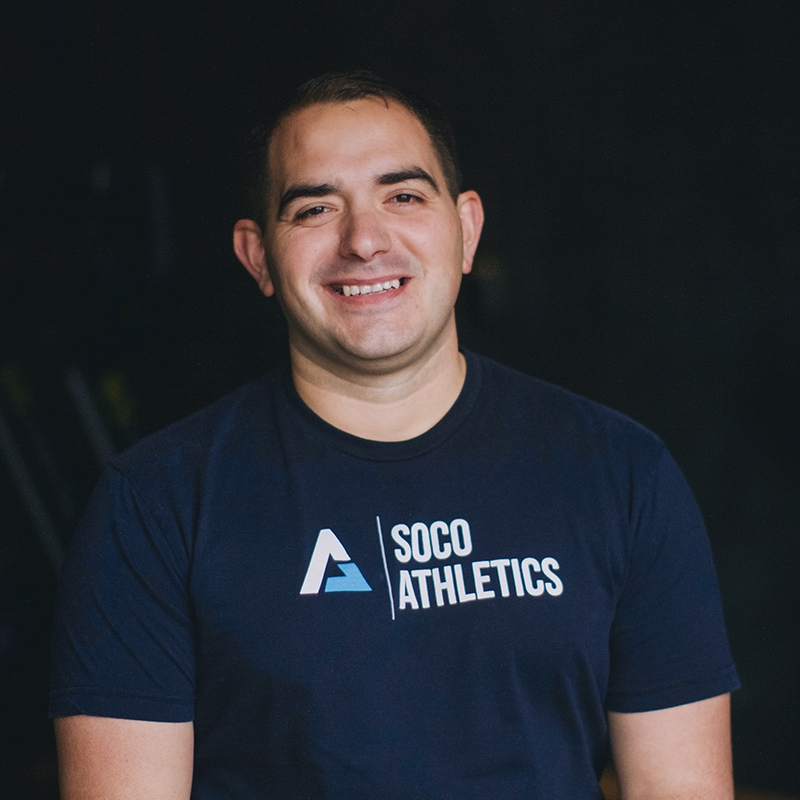 Carlos Carpio- Coach   Coach. Carlos grew up in Houston and later Bryan, and played virtually every sport in high school. A friend introduced him to CrossFit in 2012, and for the next two years he built out a garage gym and invited friends to join him. In 2014, he joined CrossFit 979 because he was seeking the community environment and support the gym provides. In 2015 Carlos decided to pursue his love of coaching and attained his CrossFit Level 1 (L-1) certification.  Carlos has participated in several local CrossFit competitions and coaches multiple classes each week at SoCo in addition to his work for the City of Bryan.  Carlos lives in Bryan with his wife and their three children.
