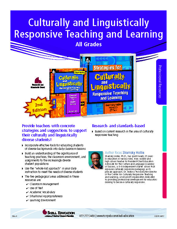 Culturally and Linguistically Responsive Teaching and Learning  Book Order Form - GET A DISCOUNT IF YOU USE THIS FORM