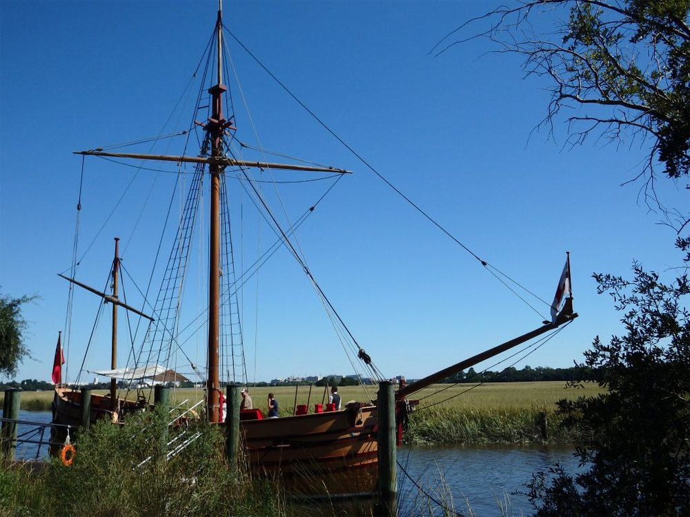 The Adventure, a replica 17th century trading vessel at   Charles Towne Landing  .