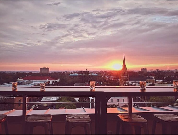 Sunset at  The Watch Rooftop Kitchen & Spirits