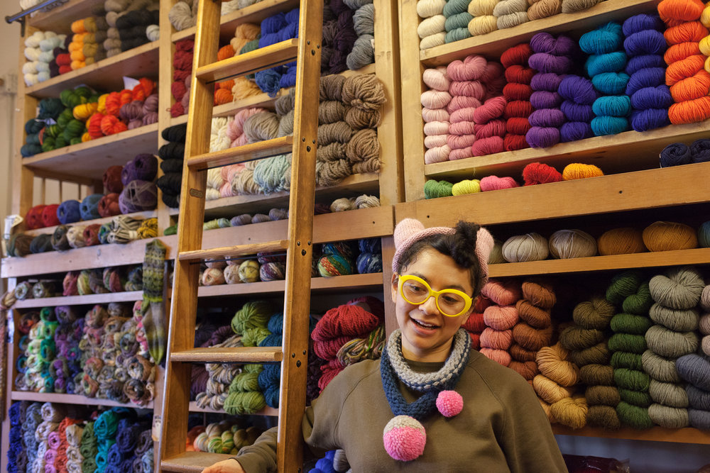 Leti from Downtown Yarns, NYC.