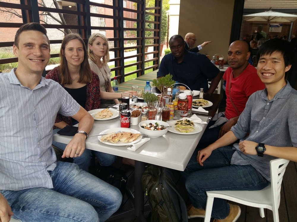 Lunch at the University of Pretoria with our wonderful host  Steven Hussey  and his group.