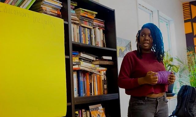Education Inequity, Iris Haastrup @semigrownfolk  02.25.18 —— representing  the inequality of education in cps by having a interactive activity that talk about how schools,communities, government, wealth, and health are all connected.  _ - _ - #youthforblacklives #Activism #Organization #blacklivesmatterchicago #Chicago #YouthTeachIn ❤️