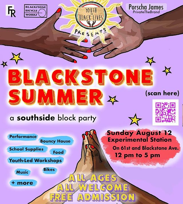 Y4BL is excited to incite you all to #BlackstoneSummer our block party featuring a youth teach-in, music, food, and fun! 🌟🔊🙌🏾 link to register in our bio!  #blacklivesmatterchicago #dismantlingthesystem #blacklivesmatter✊🏾 #blackyouths #knowledgeispower