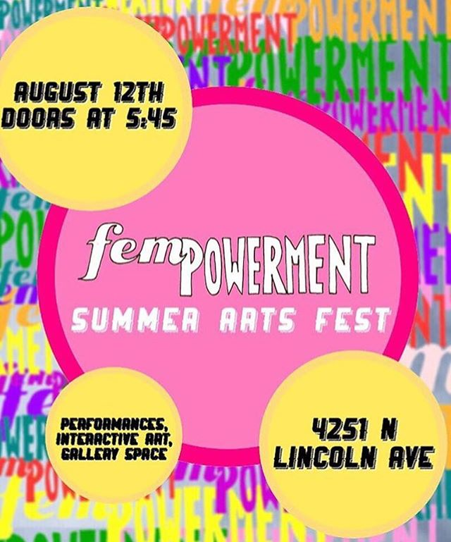 Make sure to slide through @fempowermentchi 's arts fest after the block party this Sunday 🌟🌟