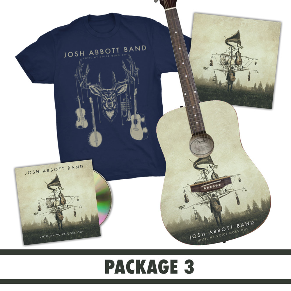 $250 WITH FREE US SHIPPING: SIGNED CD + T-SHIRT + ALBUM PRINT + ACOUSTIC GUITAR