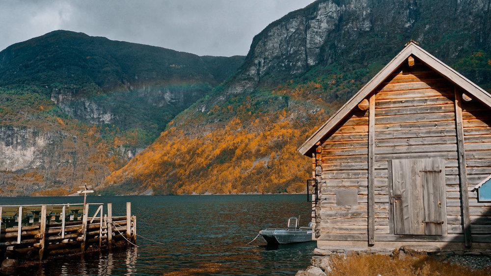 Undredal Aurland Fjord