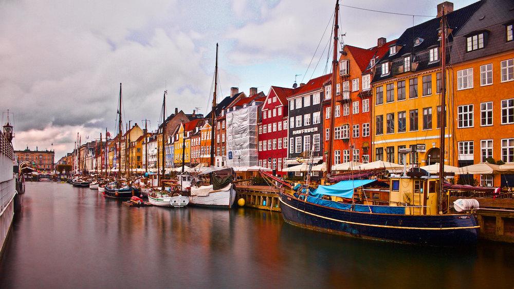 Colourful Houses at Nyhavn Habour - Copenhagen, Denmark