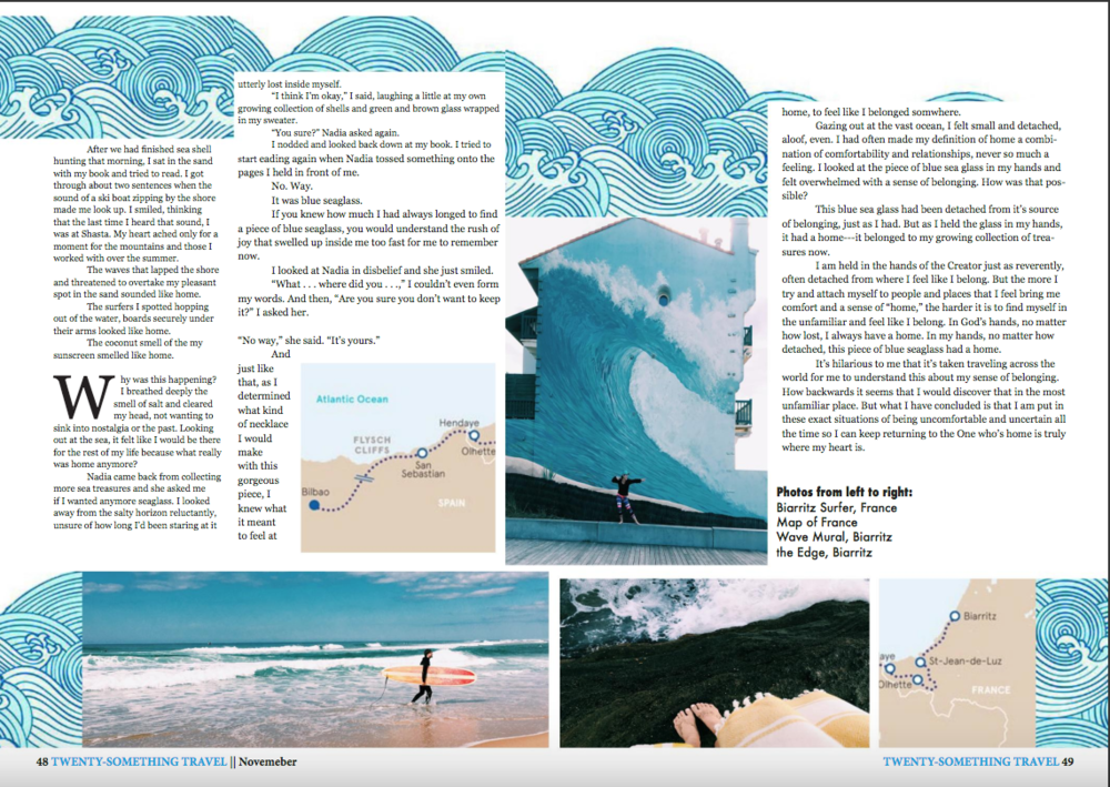 InDesign Magazine Spread