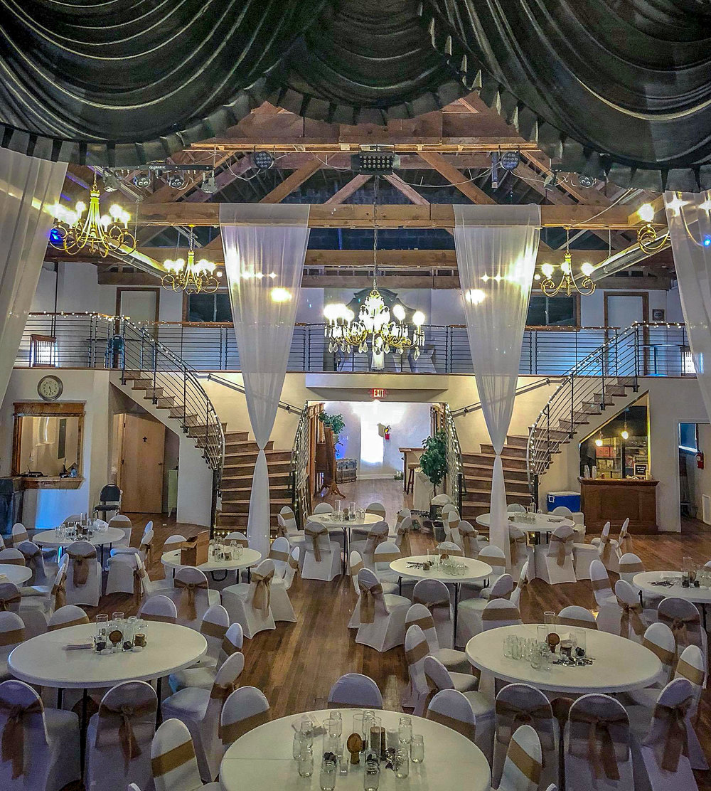 Our new stairs in the back of The Loft Theater with the bridal suite and grooms room upstairs with a full kitchen and bar downstairs. Make this the perfect day with our new amazing remodel of the historic Loft Orpheum Theater in Buena Vista, Colorado.