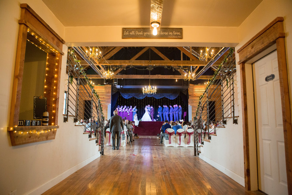 Wedding on stage at The Loft Orpheum Theater at BV