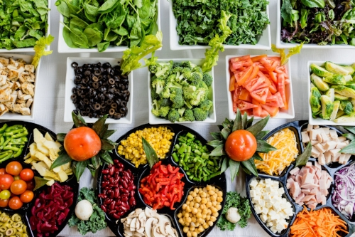 Rendition of a healthful food life: Lots of variety of real lively food - abundant fresh vegetables with quality protein and of course include healthy fat.   (Photo by Dan Gold on Unsplash)