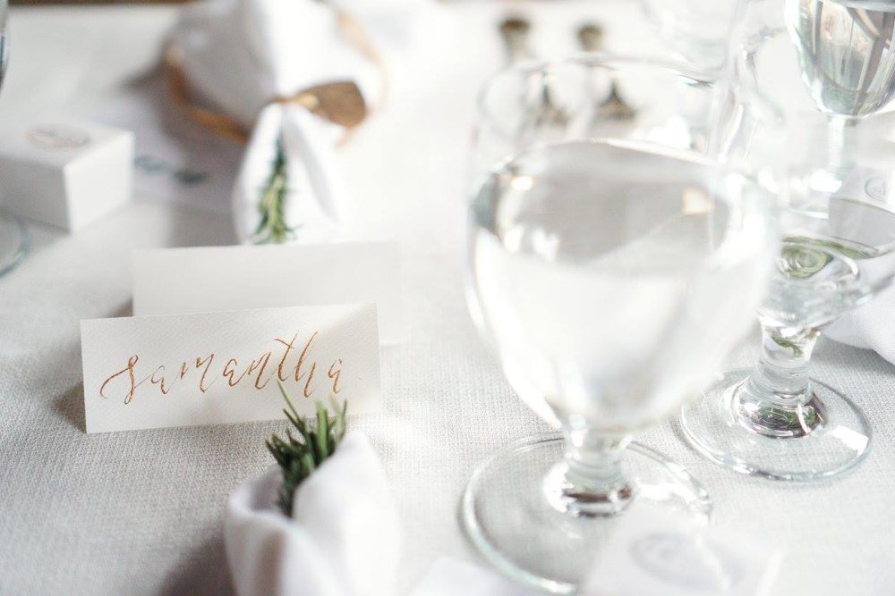 Placecard lettering for events