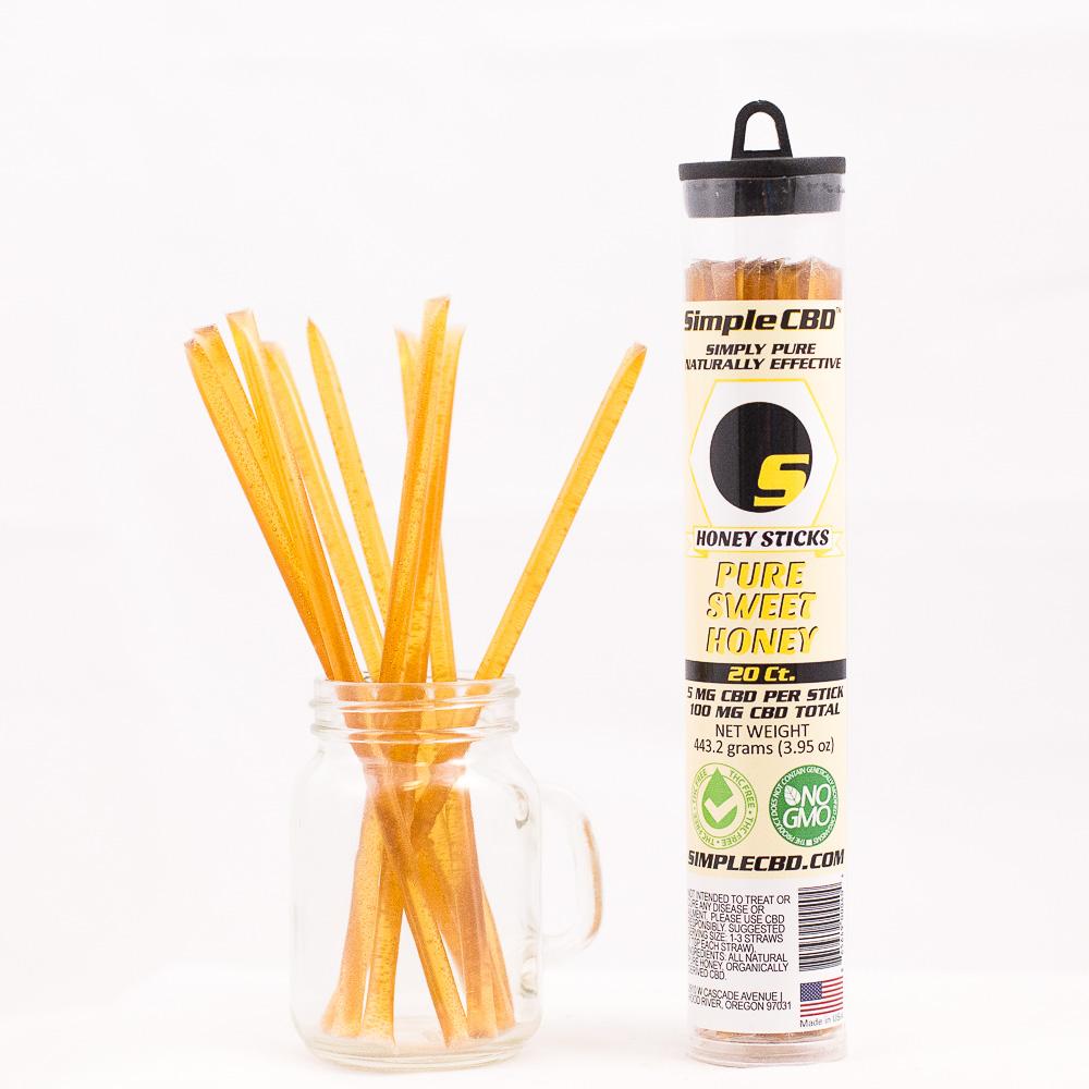 20 ct. 5mg CBD Honey Sticks