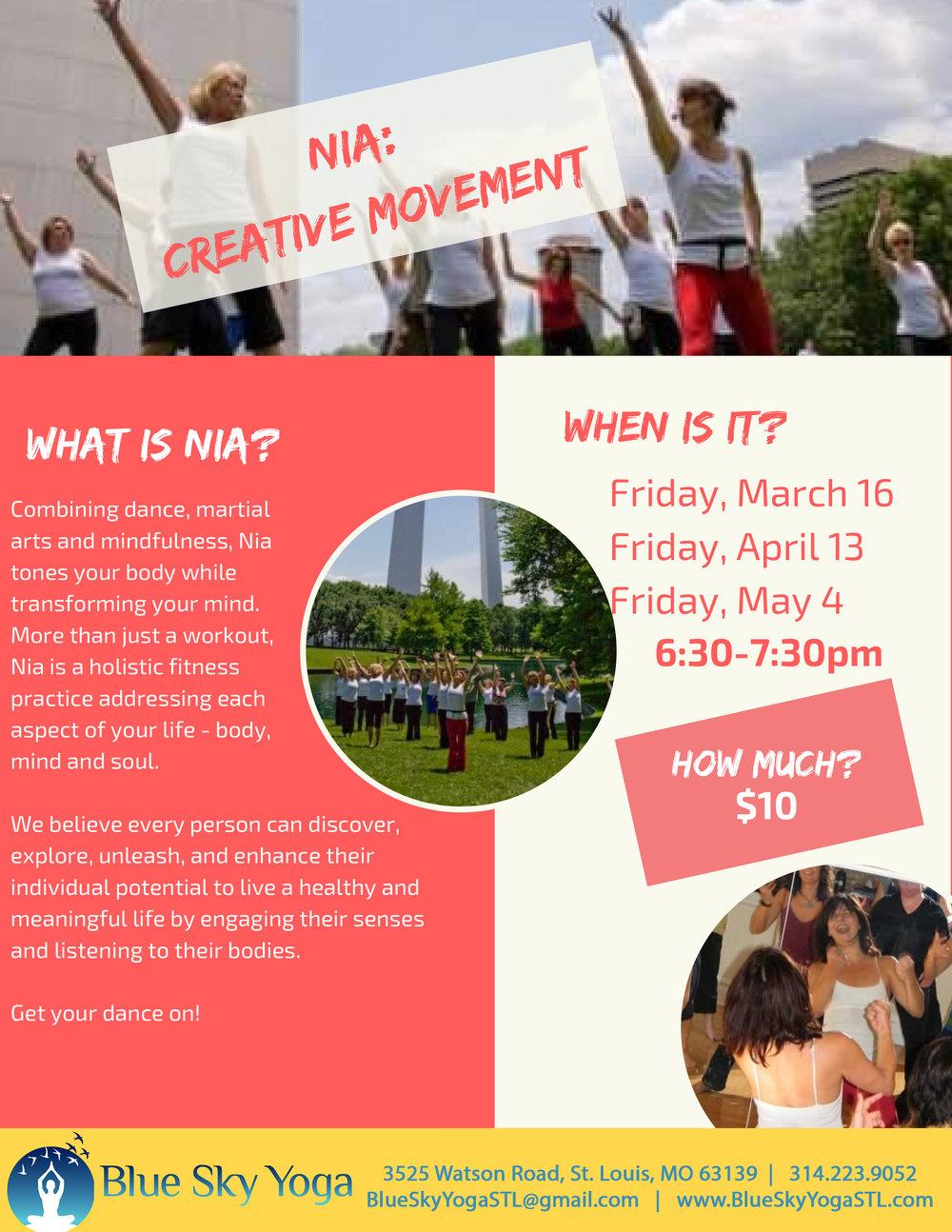 Copy of Nia: Creative Movement